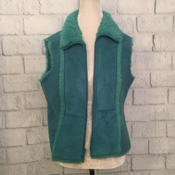 Nine West Jackets & Blazers - Nine West reversible turquoise vest